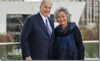 His Highness Aga Khan with  Adrienne Clarkson