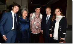 The Aga Khan, second from right, poses with Prince Aly Aga Khan, former governor general Adrienne Clarkson, Justice Albie Sachs and Princess Zarha Aga Kgan at a Toronto event in May.