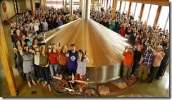 Employees at New Belgium Brewing, which made this year's Best Companies for the World list.