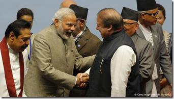 Indian Prime Minister Narendra Modi and Pakistani PM Nawaz Sharif