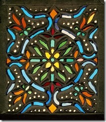Window in stained glass, 17th century, Egypt or Syria