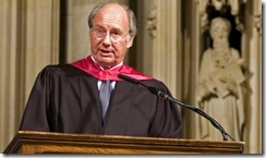 His Highness the Aga Khan delivering the Columbia University School of International and Public Affairs' Commencement Address, at the Riverside Church, New York.