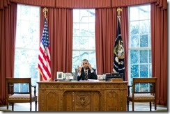 President Barack Obama in the Oval Office - Wite House photo