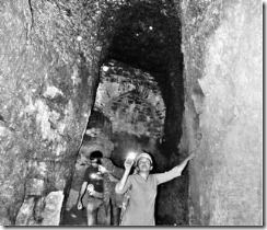 Representatives of IHCN in one of the tunnels in Vijayapura.