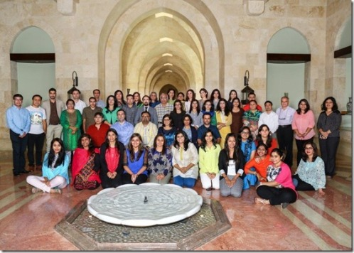 The Asian Chapter Group with guest speakers and staff at the Ismaili Centre, Dubai.