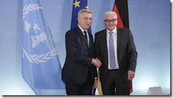 We want to set a good example- Foreign Minister Steinmeier confirms to UNHCR Grandi that Germany will make available additional aid