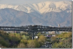 The Tabiat Pedestrian Bridge, which won the 2016 Aga Khan Award for Architecture, is located next to the Holy Defense Museum in Tehran and designed by the Iranian architect Leila Araghian.