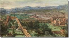 Ansicht der Stadt Rom mit dem vatikanischen Belvedere
