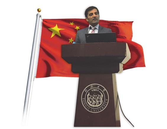 Picture 1: Rahman Jamal delivering his introductory lecture at CDHAW of Tongji University to 200 Chinese engineering students on Industrie 4.0. (Picture Credit: Computer&Automation, Fotolia, ralwayfx)