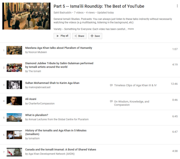 Part 5 Release: Isma'ili RoundUp (formerly Ismaili Potpourri) – Most Interesting, Accessible, and Credible Videos