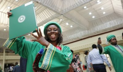 A total of 39 students received degrees at the 14th convocation ceremony in Tanzania.