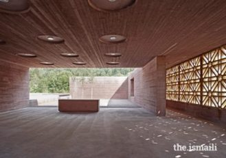 An Islamic Cemetery in Altach, Austria was presented with an Aga Khan award in 2013. Visitors are greeted by a congregation space with its wooden latticework in geometric Islamic patterns.PHOTO: AGA KHAN AWARD FOR ARCHITECTURE / ADOLF BEREUTER