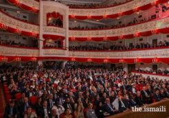 Guests gathered at the Musa Jalil Tatar Academic State Opera and Ballet Theatre in Kazan for the prize-giving ceremony of 14th cycle of the Aga Khan Award for Architecture.PHOTO: AKBAR HAKIM