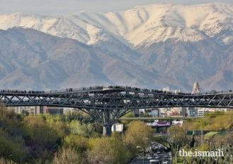 The Tabiat Pedestrian Bridge in Tehran was presented with an Aga Khan Award in 2016. The bridge includes multiple paths and inviting spaces, and connects two public parks on either side of a busy motorway.AKTC / BARZIN BAHARLOUIE
