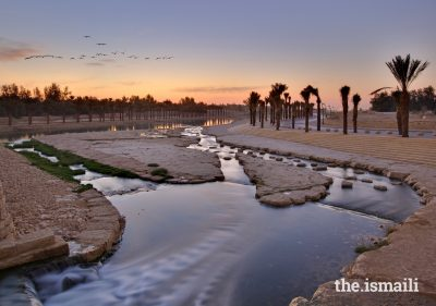 Wadi Hanifa Wetlands, a landscape architecture project in Riyadh, helps to improve flood performance and reduce pollution in local waterways.PHOTO: AGA KHAN AWARD FOR ARCHITECTURE / ARRIYADH DEVELOPMENT AUTHORITY