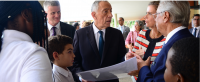 resident Marcelo Rebelo de Sousa is shown around the Aga Khan Academy's campus and facilities, and the works currently in progress to expand the school in Maputo. PHOTO: OTTO EVANDSON / AKDN